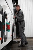Vikan Washing Brush, waterfed, High/Low, 280 mm, Soft/split, Black